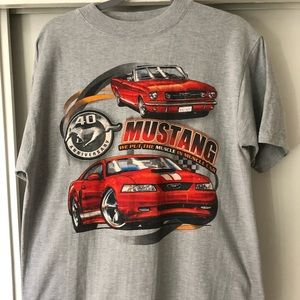 Ford Mustang-40th Anniversary Men's T-Shirt sz L